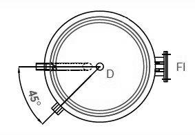 Solarspeicher BSSO, 45° Anschlussanordnung
