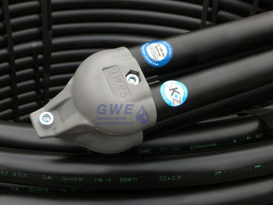 Duplex Erdwärmesonde mit angeschweißtem Sondenfuß GWE pumpenboese GmbH Grabenkollektor Killus-Technik.de