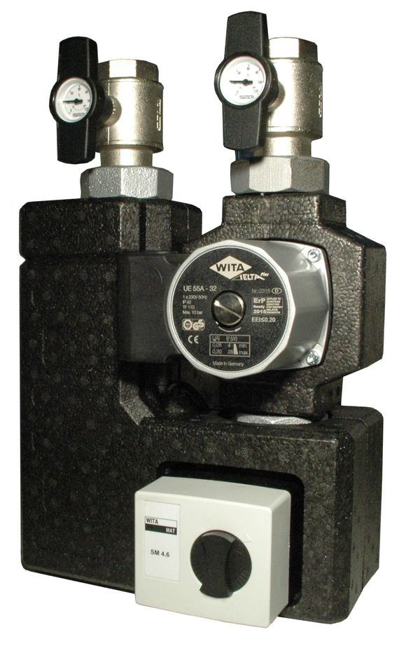 WITA UNI-Compact Hocheffizienz-Kombi-Pumpengruppe mit Motormischer für große Heizungen bis 50 kW Killus-Technik.de