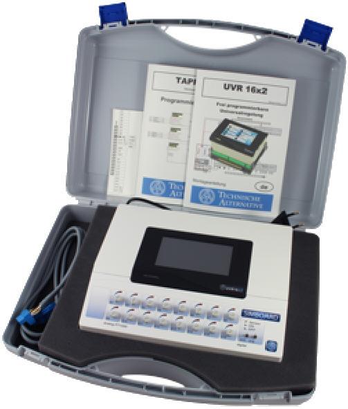 UVR16x2 Sockel Schaltfeld Frei programmierbarer Universalregler Technische Alternative Solaranlagen Drain-Back Hydraulik Heizung Steuerung Killus-Technik.de