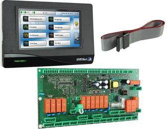 UVR16x2 Platinenversion mit Bedienteil Schaltschrank frei programmierbarer Universalregler UVR16x2 Technische Alternative Solaranlagen Drain-Back Hydraulik Heizung Steuerung Killus-Technik.de